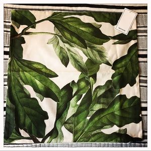 Leaf Print Pillow Cover